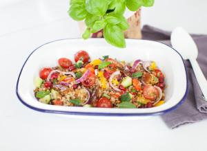 taboulé quinoa boulgour by marie gourmandise