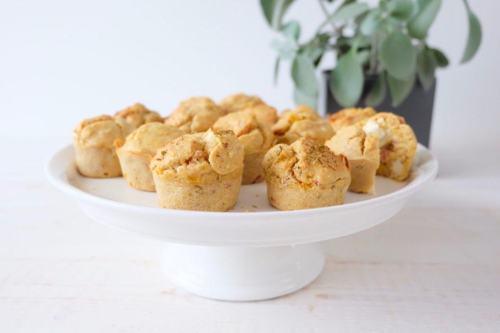 muffins lardon poivron feta marie gourmandise